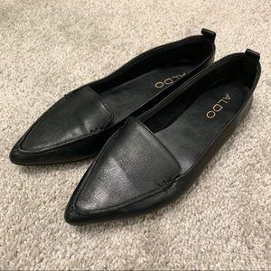 Aldo Pointed Toe Black Flats